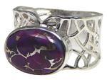 Design 20338: Purple turquoise rings