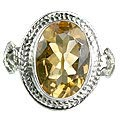 Design 8894: yellow citrine solitaire rings